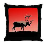 Sunset Caribou Throw Pillow