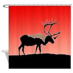 Sunset Caribou Shower Curtain