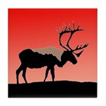 Sunset Caribou Tile Coaster