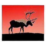 Sunset Caribou King Duvet
