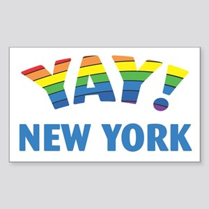 YAY! NEW YORK Sticker (Rectangle)