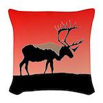 Sunset Caribou Woven Throw Pillow
