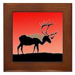 Sunset Caribou Framed Tile