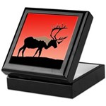 Sunset Caribou Keepsake Box