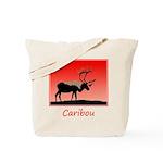 Sunset Caribou Tote Bag