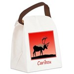 Sunset Caribou Canvas Lunch Bag