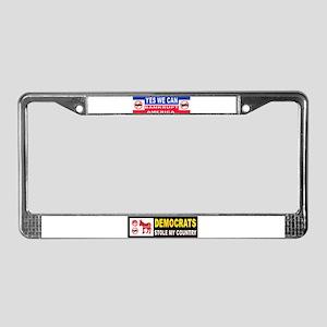 OBAMA MUST GO License Plate Frame