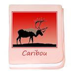 Sunset Caribou baby blanket