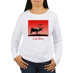 Sunset Caribou Women's Long Sleeve T-Shirt