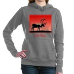 Sunset Caribou Women's Hooded Sweatshirt