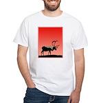 Sunset Caribou White T-Shirt