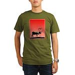 Sunset Caribou Organic Men's T-Shirt (dark)