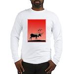 Sunset Caribou Long Sleeve T-Shirt