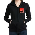 Sunset Caribou Women's Zip Hoodie