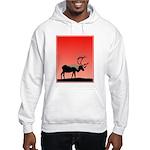 Sunset Caribou Hooded Sweatshirt