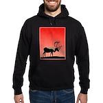 Sunset Caribou Hoodie (dark)