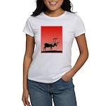 Sunset Caribou Women's Classic White T-Shirt