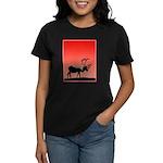 Sunset Caribou Women's Dark T-Shirt