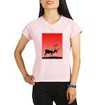 Sunset Caribou Performance Dry T-Shirt