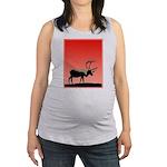 Sunset Caribou Maternity Tank Top