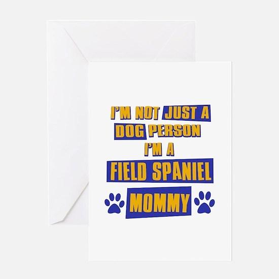 Field Spaniel Mommy Greeting Card