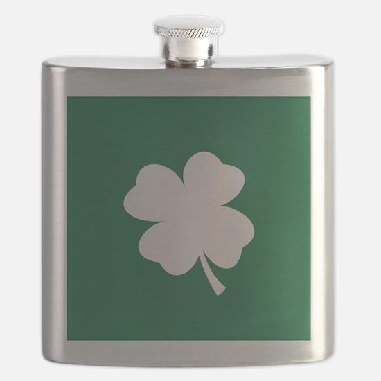 St Patricks Day Shamrock Flask