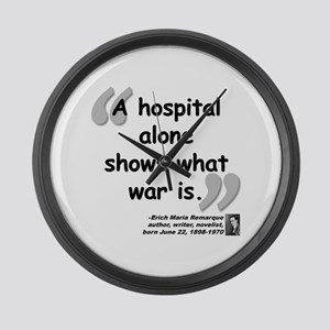 Remarque War Quote Large Wall Clock