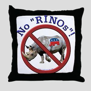 """No """"RINOs""""! Republican Throw Pillow"""