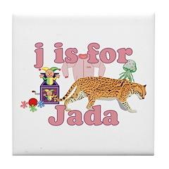 J is for Jada Tile Coaster