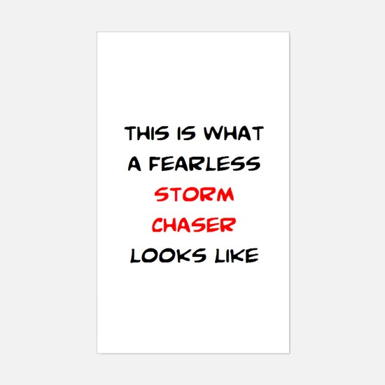fearless storm chaser Sticker (Rectangle)