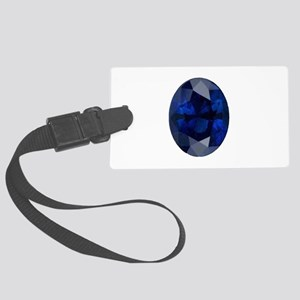 """""""Sapphire Oval Image"""" Large Luggage Tag"""