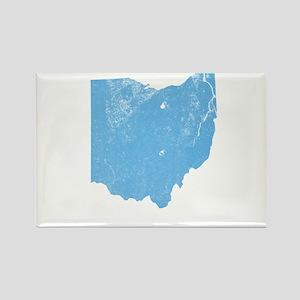 Vintage Grunge Baby Blue Blue Rectangle Magnet