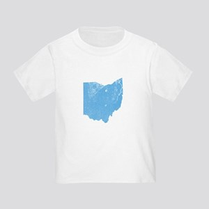 Vintage Grunge Baby Blue Blue Toddler T-Shirt