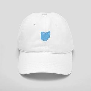 Vintage Grunge Baby Blue Blue Cap