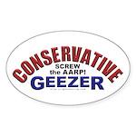 Conservative Geezer Oval Sticker