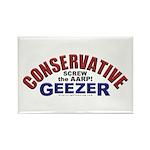 Conservative Geezer Rectangle Magnet