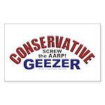 Conservative Geezer Rectangle Sticker