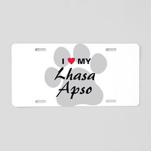 Lhasa Apso Aluminum License Plate