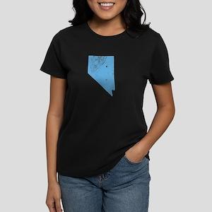 Vintage Grunge Baby Blue Blue Women's Dark T-Shirt
