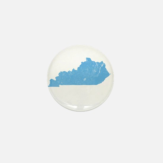 Vintage Grunge Baby Blue Blue Mini Button