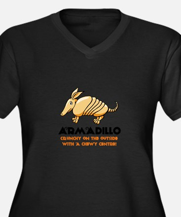 Armadillo Women's Plus Size V-Neck Dark T-Shirt