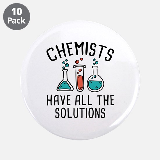 """Chemists 3.5"""" Button (10 pack)"""