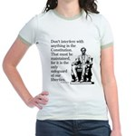 Don't interfere with the Cons Jr. Ringer T-Shirt