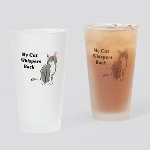 My Cat Whispers Back Pint Glass