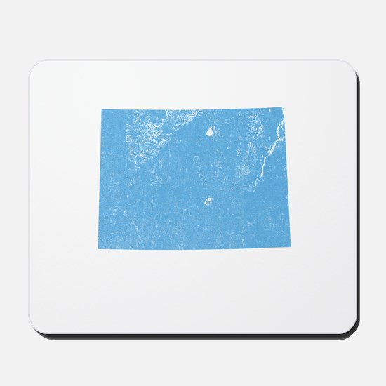 Vintage Grunge Baby Blue Blue Mousepad