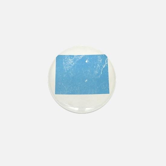 Vintage Grunge Baby Blue Blue Mini Button
