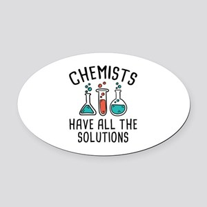 Chemists Oval Car Magnet
