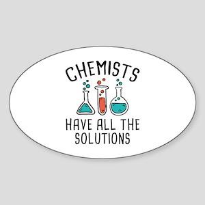 Chemists Sticker (Oval)