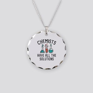 Chemists Necklace Circle Charm