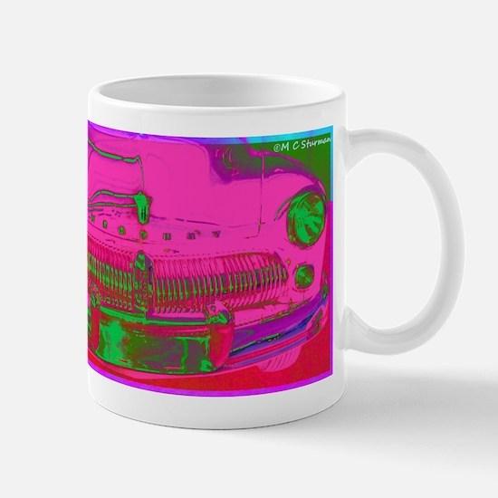 Mercury, pink, retro, car, Mug